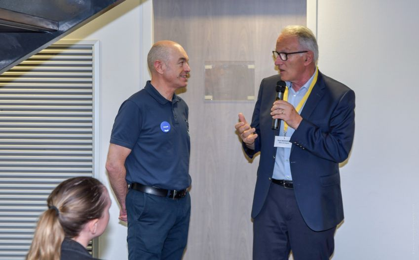 Franck Couturieux et Paul Minssieux maire de Brignais -ELCIA - The SeaCleaners